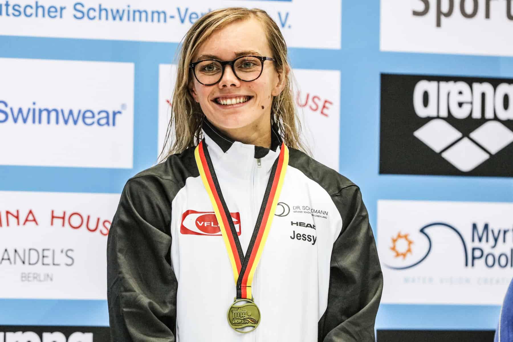 Die strahlende Siegerin Jessica Steiger.