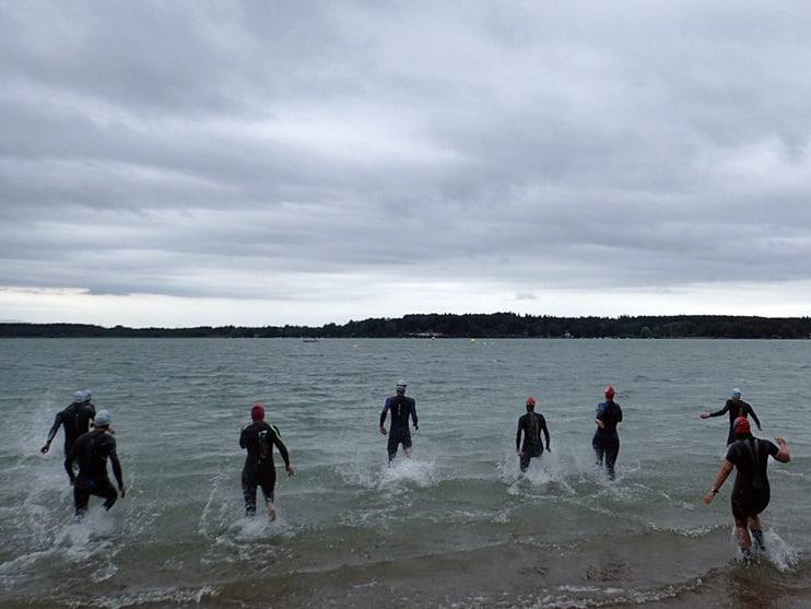 Erstes Schwimm-Event trotz Corona: Impressionen vom Langstreckenschwimmen im Simssee.