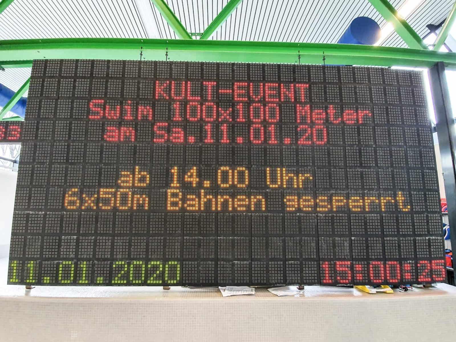 Impressionen von den SWIM 100x100 in Freiburg
