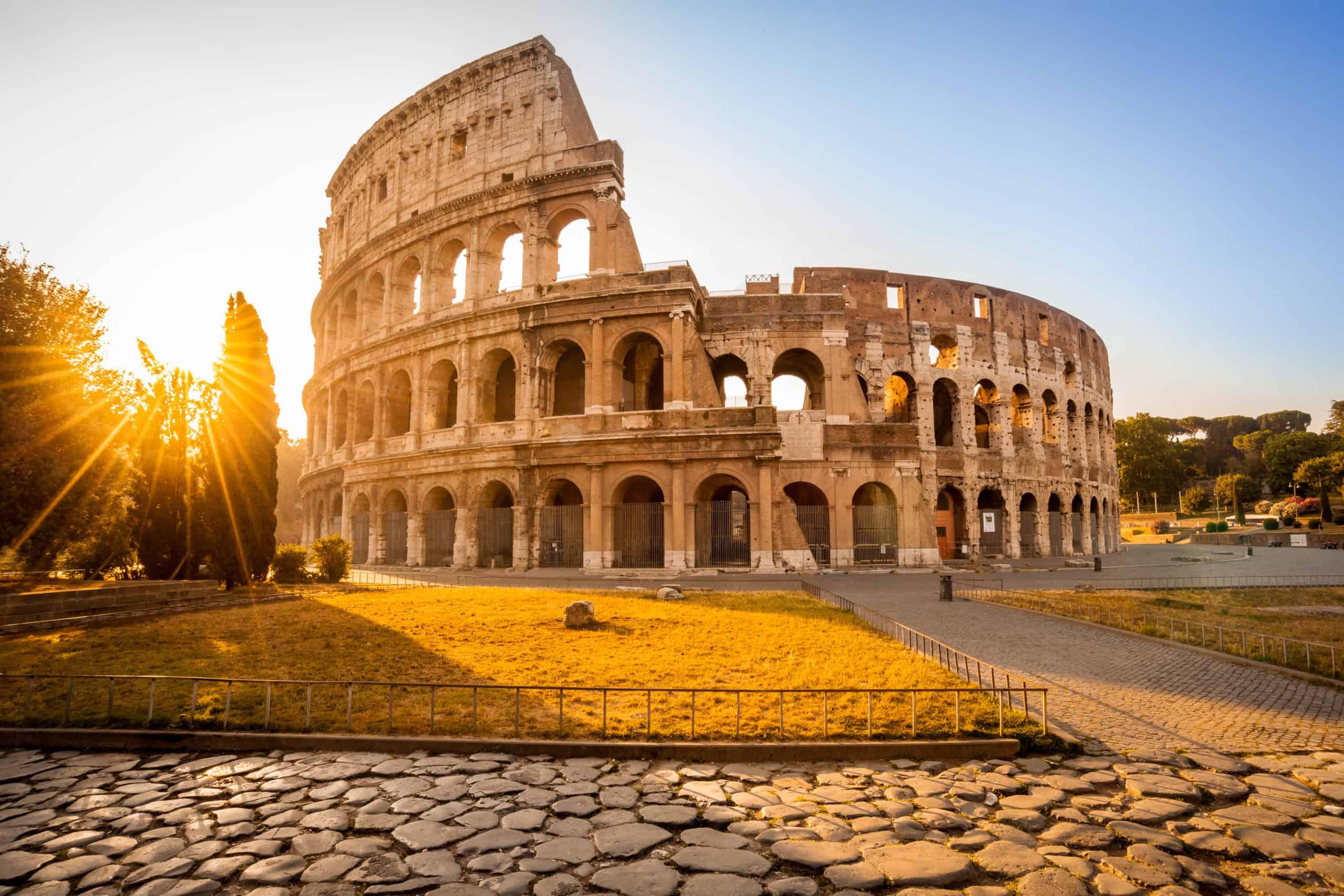 Das Kolosseum in Rom.