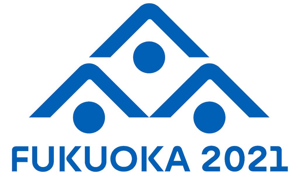 Das Logo der WM 2021 in Fukuoka.