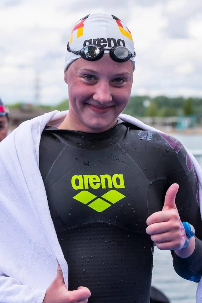 Lea Boy hat im Marathon über 25 Kilometer für einen goldenen Abschluss des deutschen Freiwasserteams bei der EM in Budapest gesorgt.